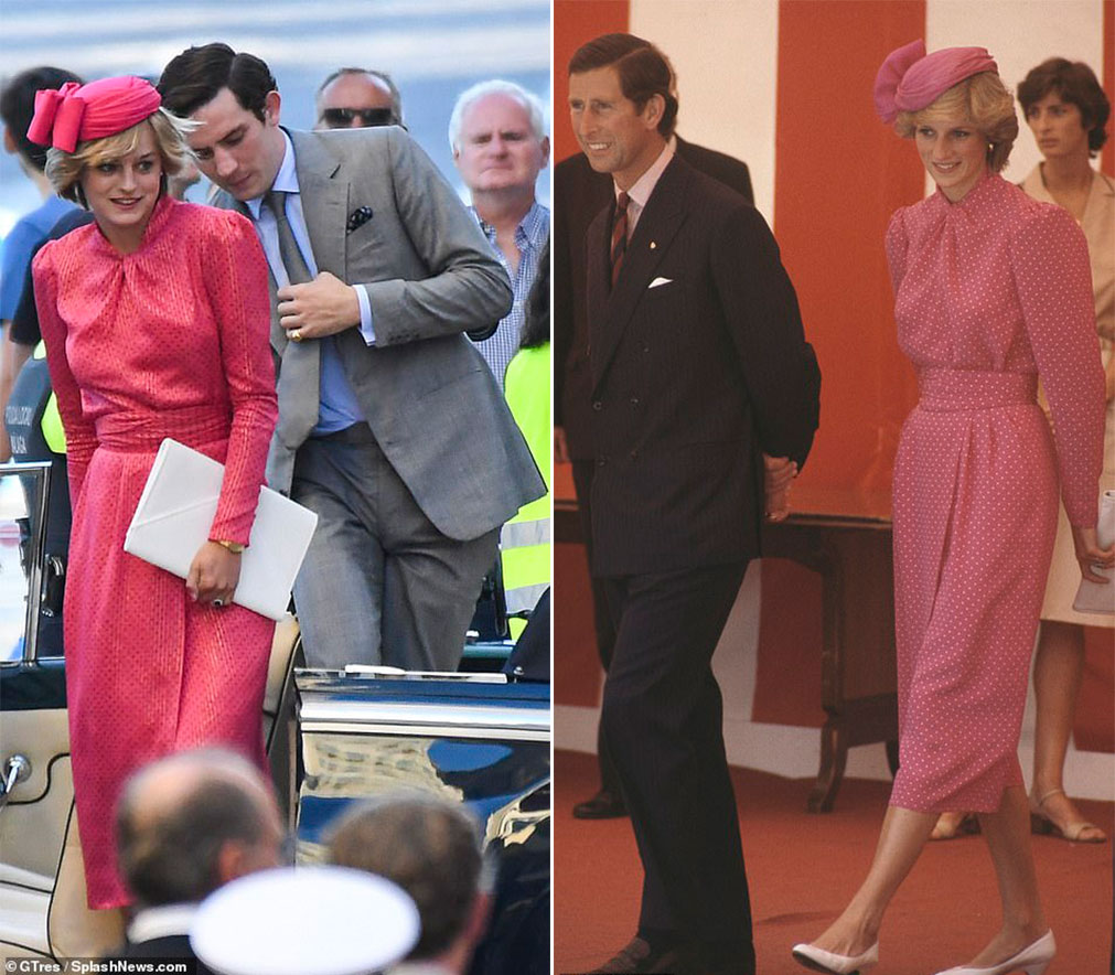 Emma Corrin como Princesa Diana e Josh O'Connor como Príncipe Charles