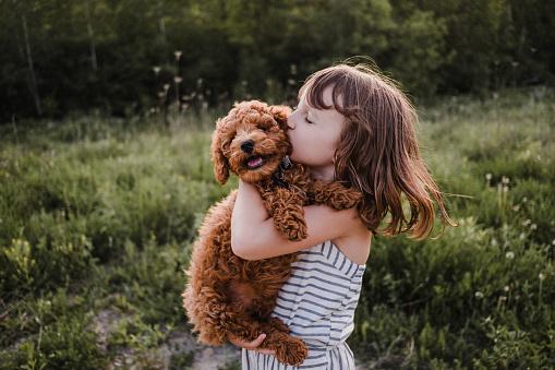 criança cachorro