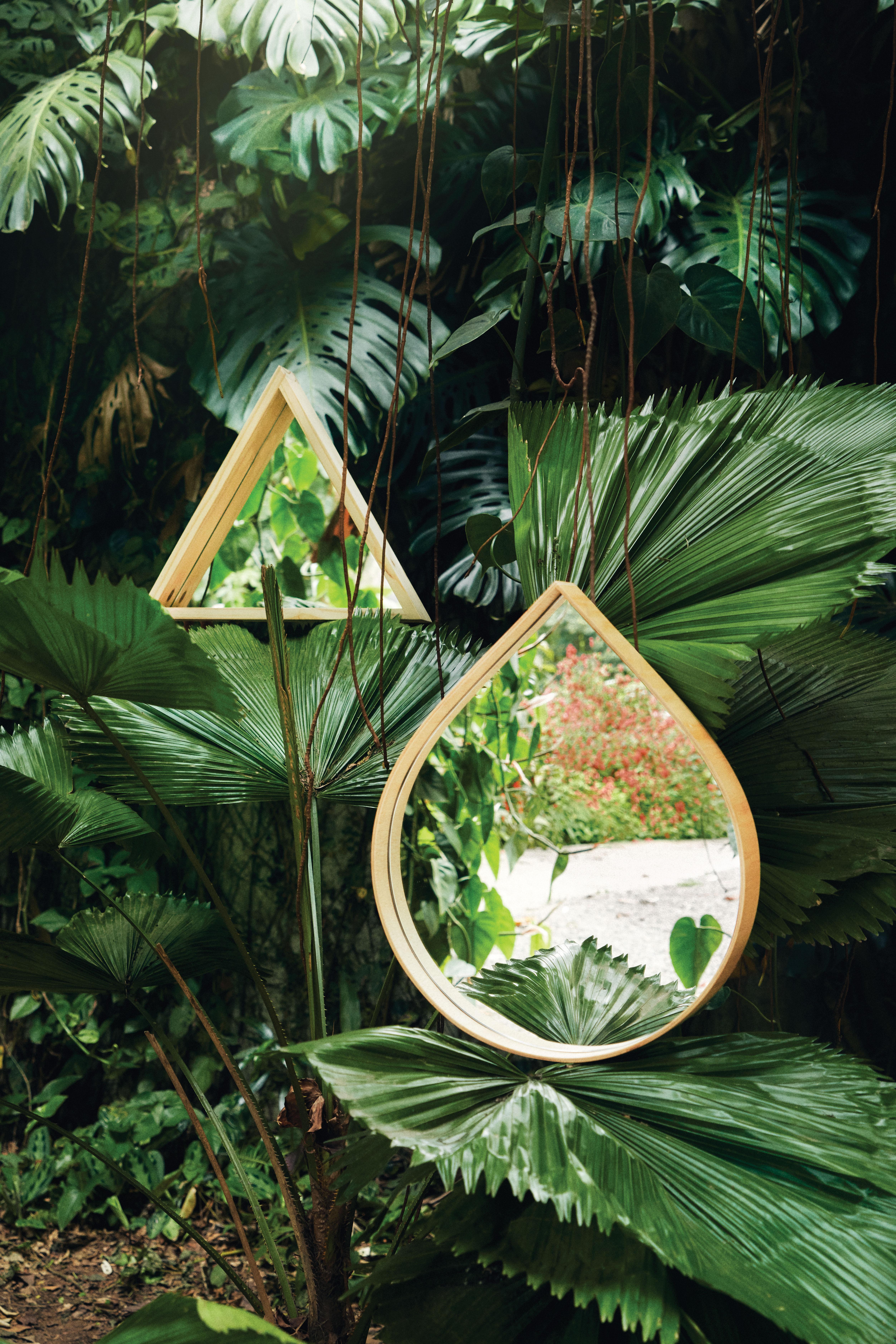 Espelhos triângulo e gota