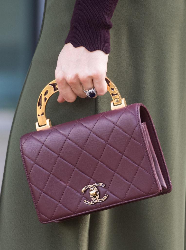 Bolsa da Chanel usada por Kate Middleton