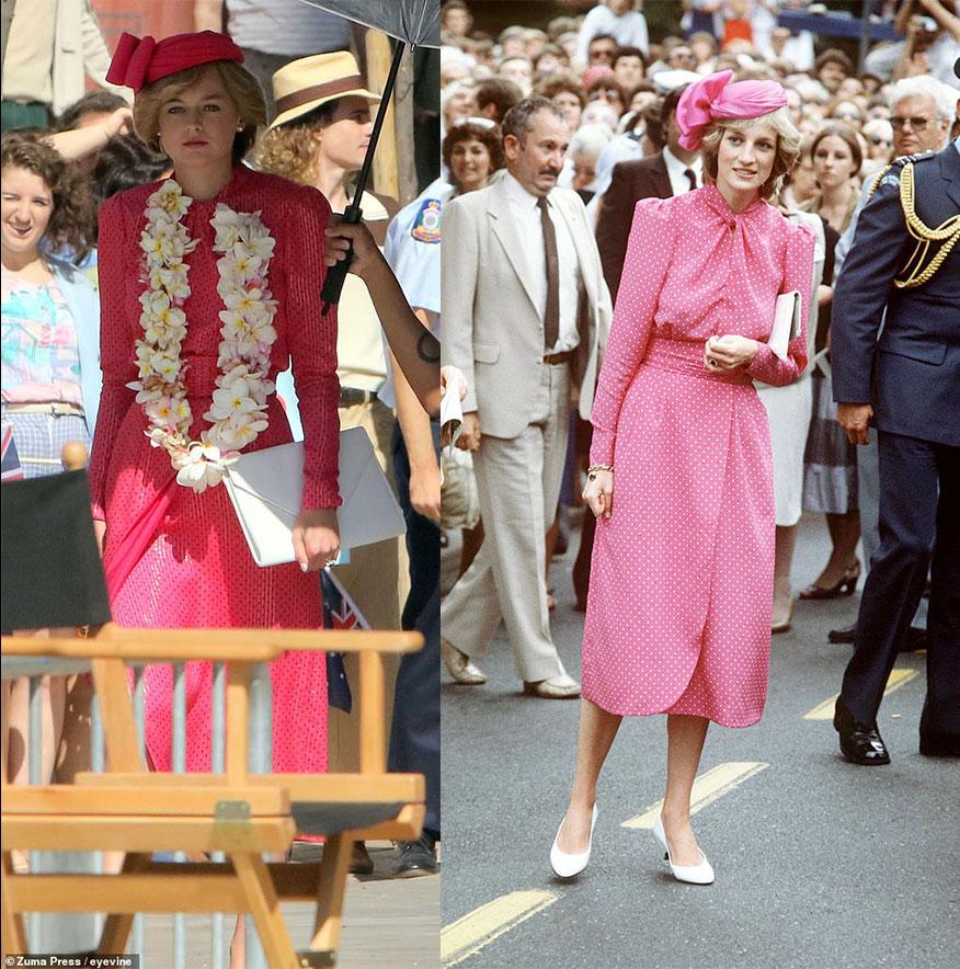 Emma Corrin como Princesa Diana, em The Crown