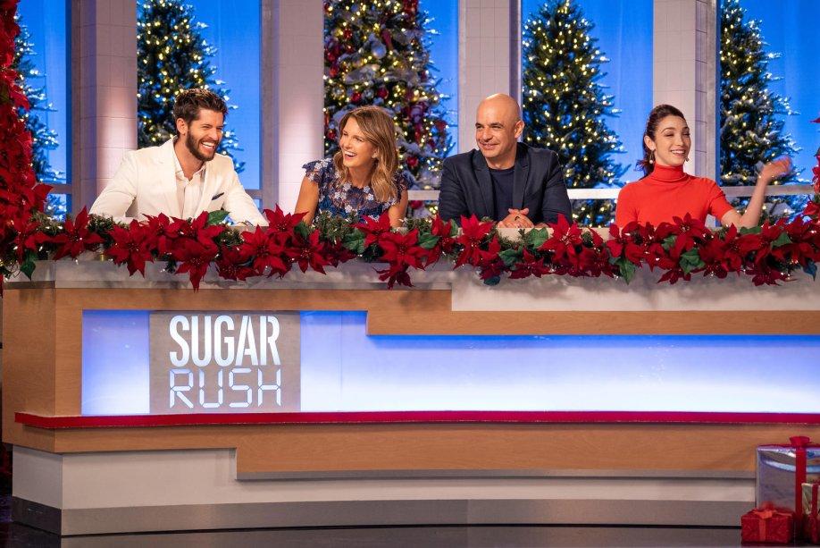 """<strong>Sugar Rush de Natal (estreia em 29/11): </strong><span style=""""font-weight:400;"""">Na competição, confeiteiros correm contra o relógio na tentativa de preparar pratos natalinos de encher os olhos e comer rezando.</span>"""