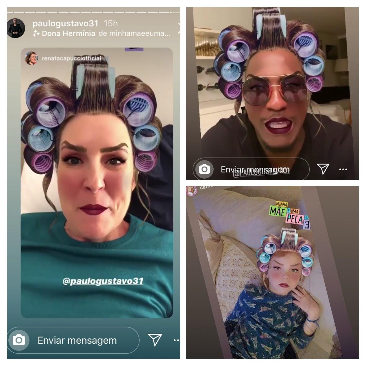 Filtro de Dona Hermínia chega ao Instagram