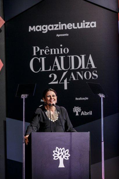 A diretora de CLAUDIA, Guta Nascimento, abriu a cerimônia