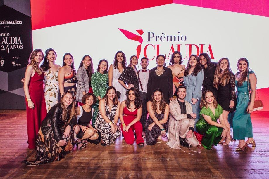 A equipe de CLAUDIA ao final da premiação