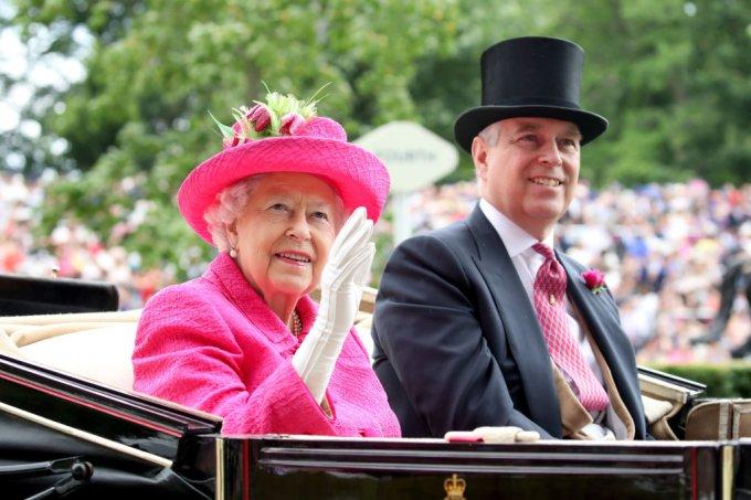 Rainha Elizabeth II e Príncipe Andrew