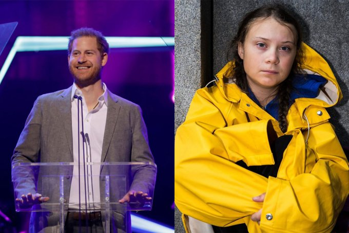 Príncipe Harry e Greta Thunberg