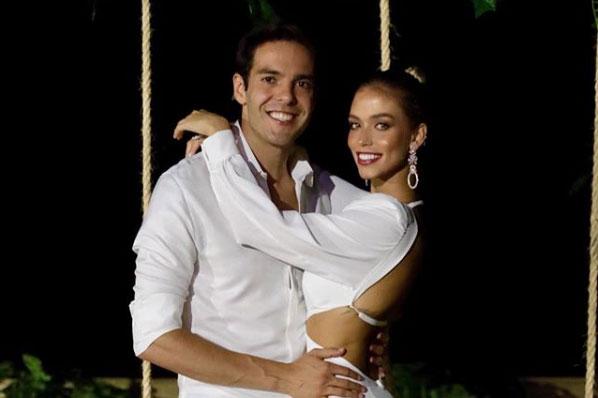 Carol Dias usou vestido deslumbrante em pré-casamento com Kaká