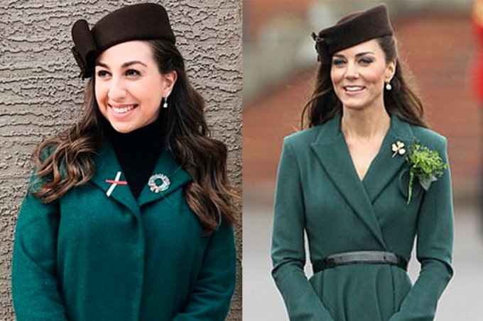 Fã se inspira em Kate Middleton