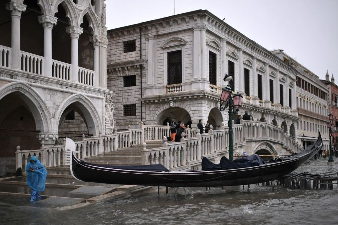 Maré alta em Veneza