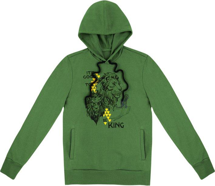 Blusão em moletom com estampa - Rei Leão - Verde, R$ 179,99 - Hering