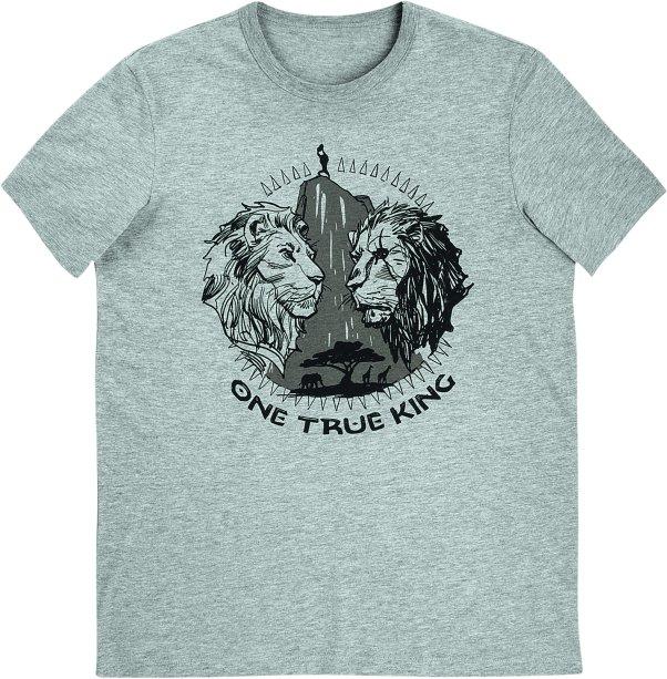 Camiseta Masculina Manga Curta Com Estampa - Rei Leão - Cinza, R$ 49,99 - Hering