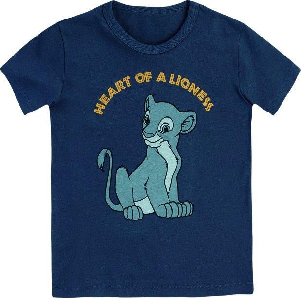 Camiseta Infantil Manga Curta Com Estampa - Rei Leão - Azul, R$ 39,99 - Hering