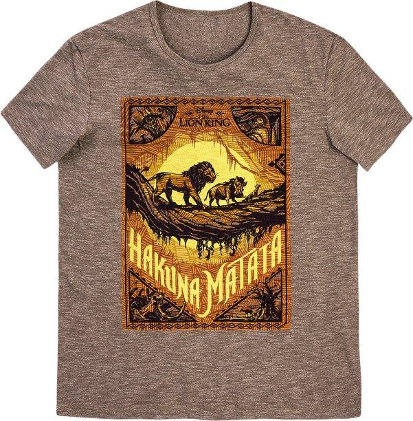 Camiseta Masculina Manga Curta Em Malha De Algodão - Rei Leão - Marrom, R$ 69,99 - Hering
