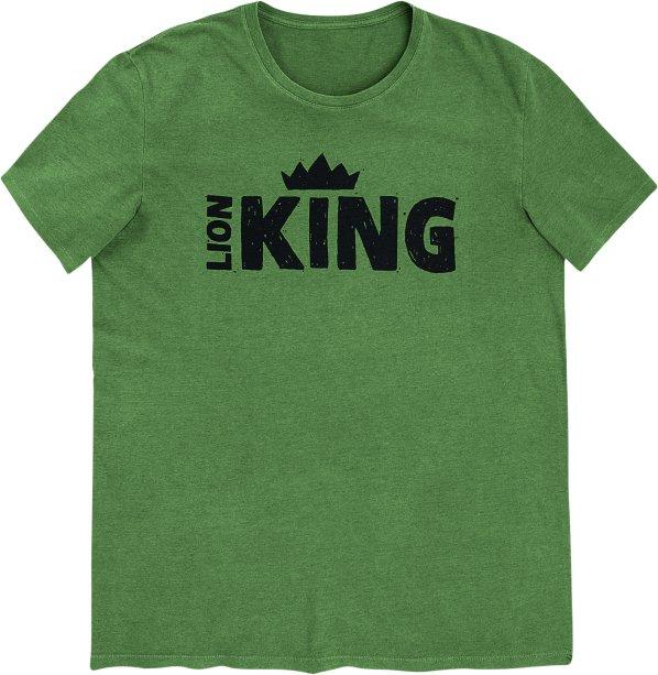 Camiseta Masculina Manga Curta Com Estampa - Rei Leão - Verde, R$ 89,99 - Hering