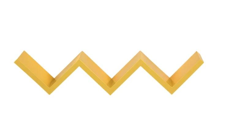 "<span style=""font-weight:400;"">Prateleira Wavy Line. </span><a href=""https://www.tokstok.com.br/prateleira-11x64x15-banana-wavy-line/p?idsku=348875""><span style=""font-weight:400;"">Tok&Stok</span></a><span style=""font-weight:400;"">, R$129,90</span>"