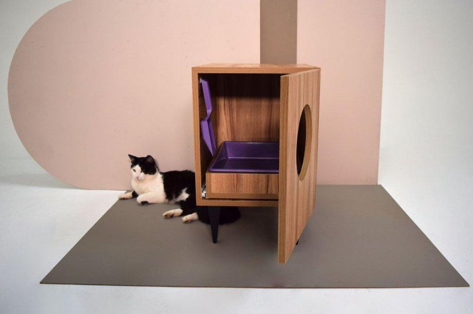 """Banheiro WCat, de MDF laminado, nas medidas 50 x 38 x 59 cm, com gavetinha e caixa de areia. <a href=""""https://www.gattedo.com.br/none-29189613"""" target=""""_blank"""" rel=""""noopener"""">Gattedo</a>, R$ 320"""