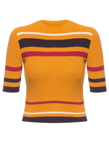 "Por <a href=""https://www.shop2gether.com.br/blusa-fem-mc-stripes-knit.html"" target=""_blank"" rel=""noopener"">R$ 222,90, à venda no Shop2gether</a>"