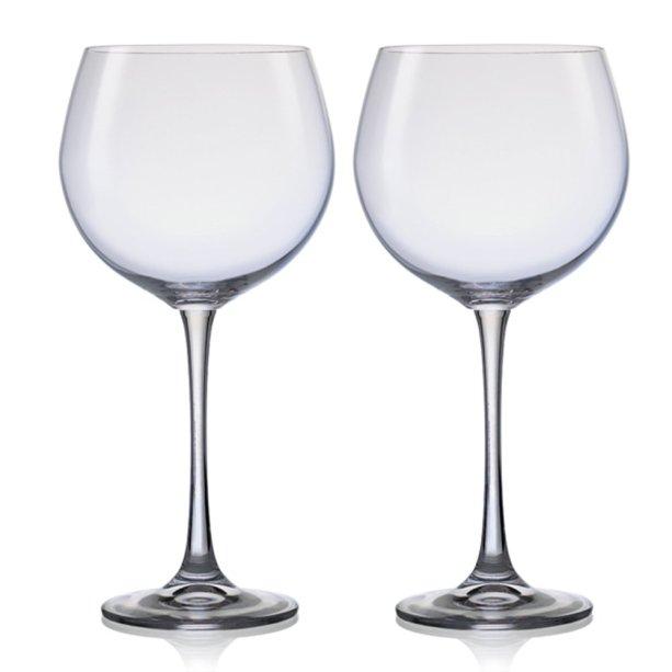 """Par de taças de vinho Vintage, de 820 ml. <a href=""""https://www.casasbahia.com.br/UtilidadesDomesticas/Tacas/taca-vinho-vintage-xxl-820-ml-2-pecas-bohemia-11861532.html"""" target=""""_blank"""" rel=""""noopener"""">Casas Bahia</a>, R$ 136,01 com duas taças<div class=""""productCodSku""""></div>"""