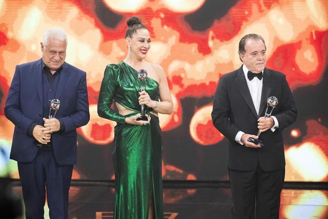 Claudia Raia, Antonio Fagundes e Tony Ramos