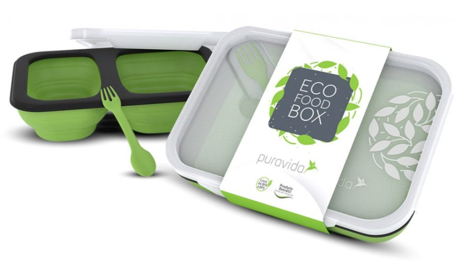 "Eco Food Box, dobrável, com talher, capacidade de 350 ml. <a href=""https://www.puravida.com.br/natural/sem-desconto/eco-food-box/?adTribesID=9e2927bc138cba841a30dfddf0ae1ff0%7Cadtribes%7C88602&utm_source=Google%20Shopping&utm_campaign=Puravida-FeedGoogle&utm_medium=cpc&utm_term=88602&gclid=EAIaIQobChMIrpHf8NGO4gIVxwWRCh1EhQtcEAYYAiABEgLd3fD_BwE"" target=""_blank"" rel=""noopener"">PuraVida</a>, R$ 55,97"