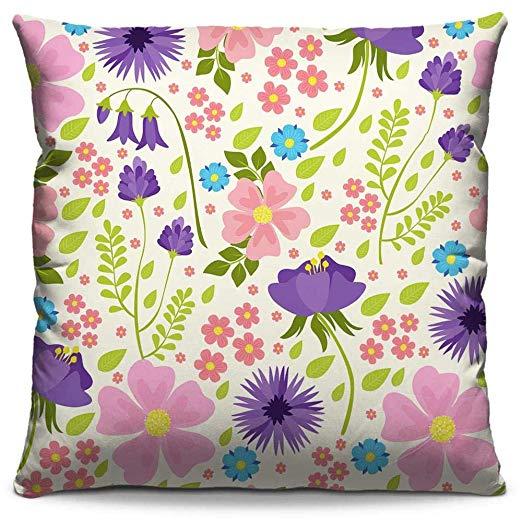 "Capa de almofada Flores 273, de poliéster, 40 x 40 cm. <a href=""https://www.almofadasestampadas.com.br/capas/capa-de-almofada-estampada-colorida-florata-flores-273"" target=""_blank"" rel=""noopener"">Almofadas Estampadas</a>, R$ 21,90"