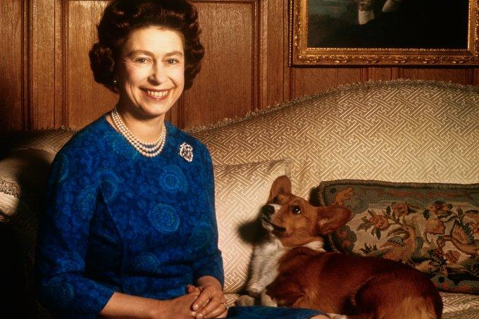 Rainha Elizabeth com seu pet