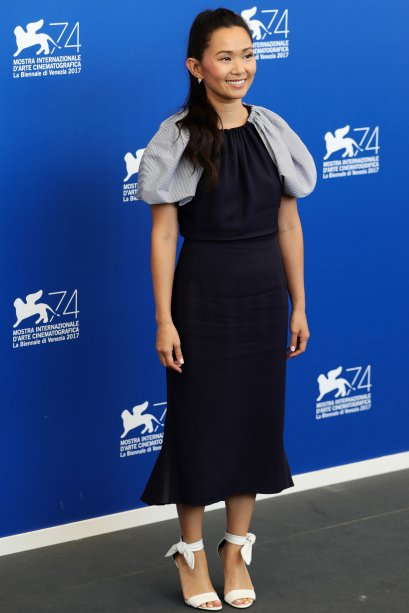 <strong>Hong Chau</strong> no photocall de <span><strong>Downsizing</strong>.</span>