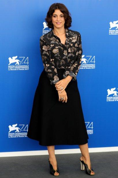 <strong>Donatella Finocchiaro</strong> no photocall de<strong>Nato A Casal Di Principe</strong>.