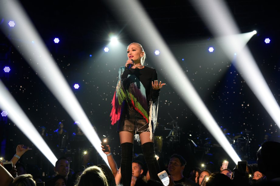 A cantora foi uma das atrações da noite.