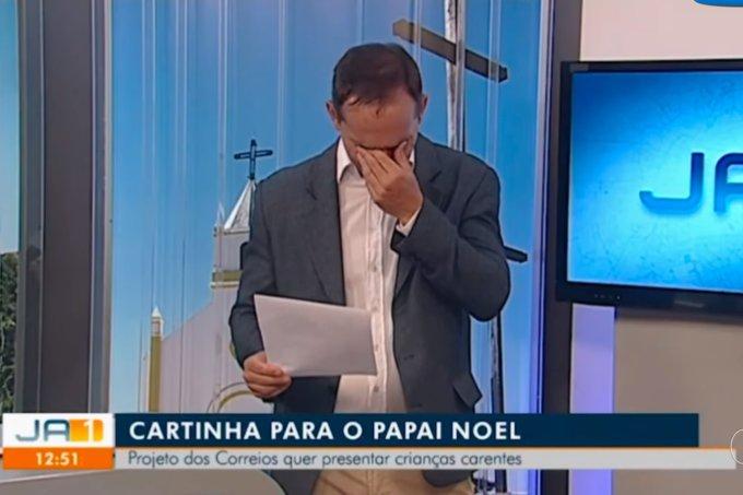 Jornalista se emociona com carta para o Papai Noel