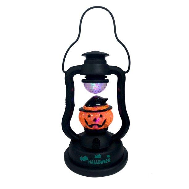 """Lampião Halloween, de plástico, 12 x 21 cm, funciona com pilhas (não inclusas).<a href=""""https://www.maxfesta.com.br/lampiao-halloween-29180/p?cc=236"""" target=""""_blank"""" rel=""""noopener""""> Max Festa</a>, R$ 29,90"""