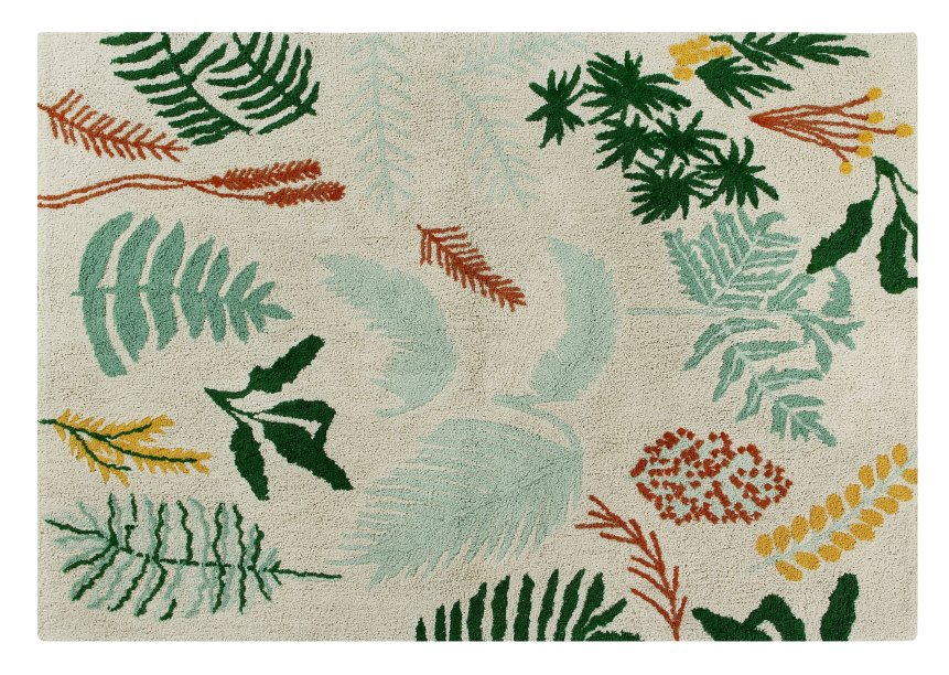 "Tapete Botânica, da Lorena Canals, de algodão, 1,40 x 2 m. <a href=""https://www.mimootoys.com.br/decoracao/tapetes/tapetes-lorena-canals/tapete-botanica-lorena-canals/"" target=""_blank"" rel=""noopener"">Mimoo</a>, R$ 1467,90"