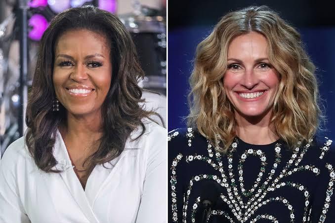 Michelle Obama e Julia Roberts