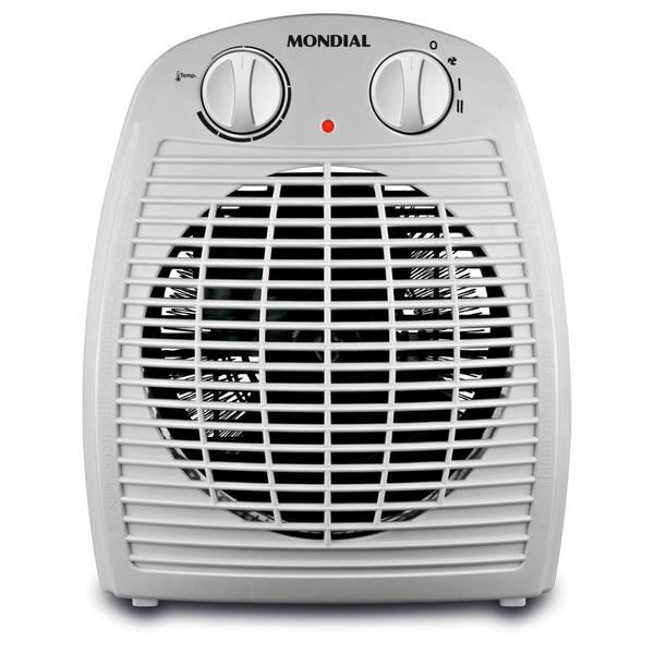 """Aquecedor Termoventilador A-08, da Mondial, dois níveis de aquecimento e um de ventilação. <a href=""""https://www.leroymerlin.com.br/aquecedor-de-ambientes-termoventilador-127v--110v--mondial-a-08_89578741?region=grande_sao_paulo&gclid=EAIaIQobChMIoPisqOSW4wIVhBCRCh3L-Qo1EAkYASABEgKSNvD_BwE"""" target=""""_blank"""" rel=""""noopener"""">Leroy Merlin</a>, R$ 66,20"""