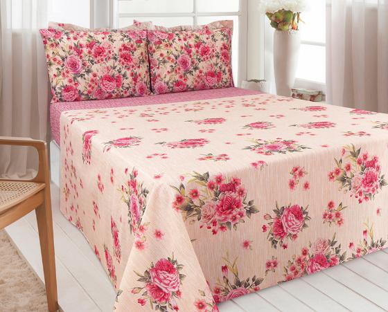 """O jogo de cama Realce solteiro custa R$ 59,90 na <a href=""""http://www2.zelo.com.br/jogo-de-cama-realce-solteiro,product,25449,dept,10010004.aspx"""">Zelo</a>."""