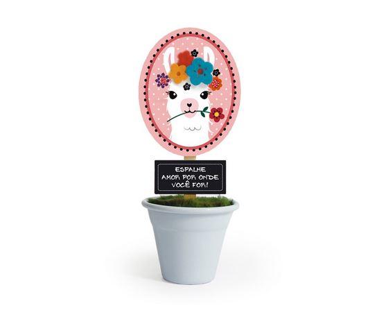 "O mini vaso Lhama custa R$ 39,90 na <a href=""https://www.mimeria.com.br/mini-vaso-lhama"">Mimeria</a>."
