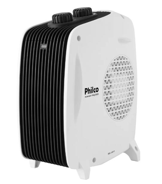 """Aquecedor PAQ2000B, da Philco, com três níveis de potência (dois para aquecimento e um para ventilação). <a href=""""https://www.americanas.com.br/produto/134323104/aquecedor-eletrico-philco-paq2000b-3-niveis-de-potencia-branco?WT.srch=1&acc=e789ea56094489dffd798f86ff51c7a9&epar=bp_pl_00_go_pla_casaeconst_geral_gmv&gclid=EAIaIQobChMIloLq3-2W4wIVioeRCh24kQF-EAQYEiABEgIRsfD_BwE&i=5612cbe46ed24cafb5cae011&o=5cffd8186c28a3cb50ea5d9f&opn=YSMESP&sellerId=00776574000660&voltagem=220V"""" target=""""_blank"""" rel=""""noopener"""">Americanas.com</a>, R$ 109,04"""