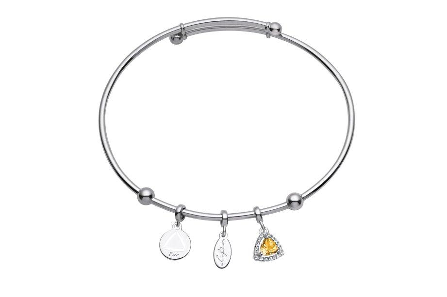 Na nova coleção <strong>Elementos Life by Vivara</strong>, o elemento Fogo é representado pelo citrino amarelo.