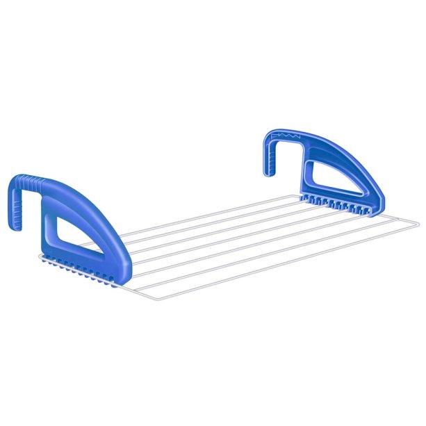 """Varal portátil Slick, de aço, com ganchos para apoio em portas, nas medidas 50 x 27 cm. <a href=""""https://www.casasbahia.com.br/UtilidadesDomesticas/lavanderiaebanheiro/Varal/Varal-de-Parede-Portatil-Secalux-em-Aco-Slick-151030-%E2%80%93-050-x-027-m-2180831.html?rectype=p6_ov_f_s14&recsource=cat-3032"""" target=""""_blank"""" rel=""""noopener"""">Casas Bahia</a>, R$ 45,59<div class=""""productCodSku""""></div>"""