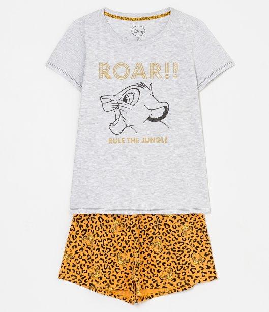 Pijama manga curta estampa Simba Rei Leão, R$ 79,90 - Renner