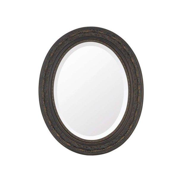 """Espelho Oval Bisotê Marrom Rustico. <a href=""""https://www.mobly.com.br/espelho-oval-bisote-marrom-rustico-215742.html"""">Mobly</a>, R$ 395,90"""