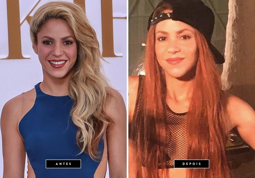 <strong>Julho de 2017 // Shakira</strong>-'Ruivas se divertem mais', escreveu a cantora colombiana na legenda da foto, clicada nos bastidores das gravações do clipe 'Perro Fiel'. Ainda não se sabe se Shakira, de fato, tingiu os fios de vermelho ou só apostou em uma peruca para o vídeo, mas uma coisa é certa: a diva ficou bem diferente! Esta é a segunda vez que Shakira usa os fios ruivos; a primeira foi no começo dos anos 2000.