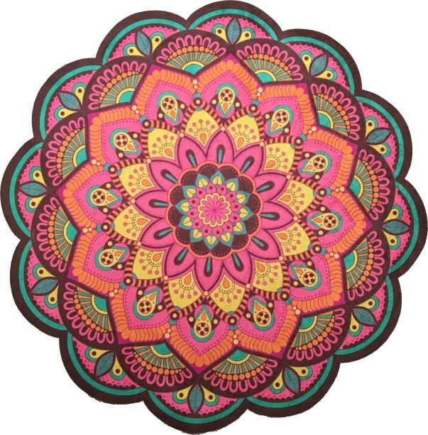 "Tapete Mandala Multicolor, de veludo, com 1,40 m de diâmetro. <a href=""https://www.elo7.com.br/tapete-mandala-multicolor/dp/B6C8E4?pp=1&pn=1&nav=sch_pd_sr_1_1&qrid=QhyyBA6OPs3x#dmcl=0&dsab=0&hpa=0&pso=up&ps2=1&hsv=1&pcpe=1&nis=0&ucrq=1&npc=0&supc=1&smk=0&df=d&rps=0&uct=0&rhpv=1&srm=0&ssl=0&sew=1&ccil=0&sms=0&spc=1&staa=0&smsm=0&usb=1&ses=1&sei=1&suf=0&smps=0&rfn=0&sedk=1&sewb=1&sac=0&uso=o&smc=1&hsn=0&dccs=0&sum=0&sep=1&dpch=1&cpr=0&secpl=1&col=b&inp=0&sed=1"" target=""_blank"" rel=""noopener"">Elo 7 (Gantavya.br)</a>, R$ 257,50"