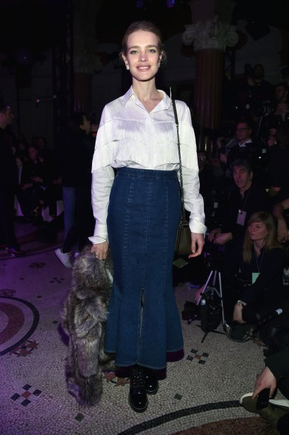 Natalia Vodianova no desfile da Stella McCartney