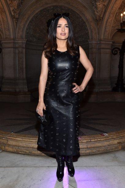 Salma Hayek no desfile da Stella McCartney