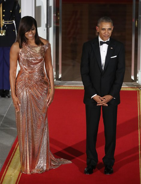 Vestido: Versace // Evento: State Dinner // Data: 18.10.16