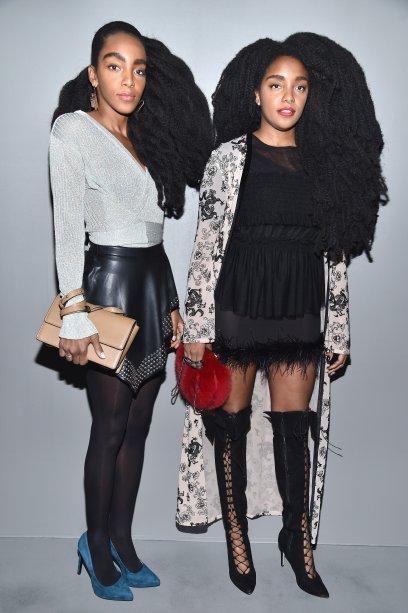 Cipriana Quann e TK Quann no desfile da H&M