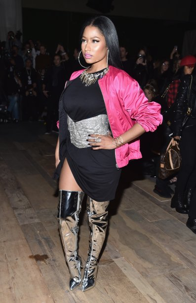 Nicki Minaj no desfile da H&M
