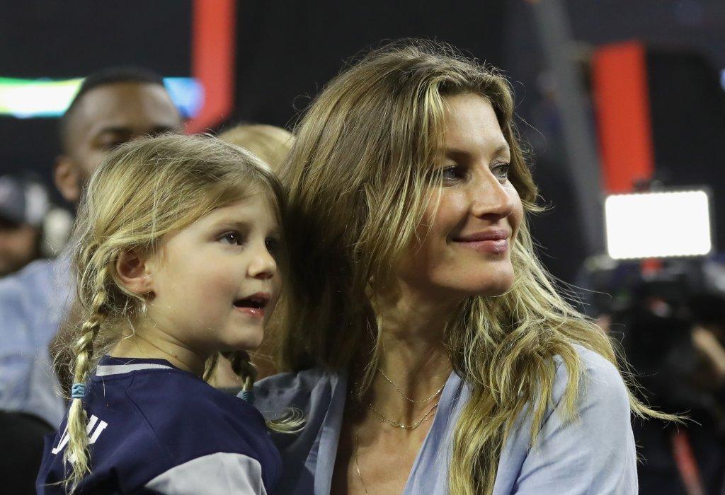 Gisele Bündchen e Tom Brady comemoração Super Bowl